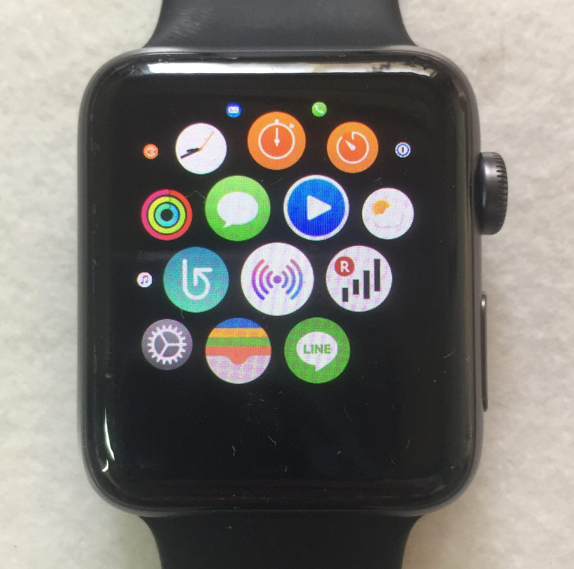 アップルウォッチLINEアプリ画面